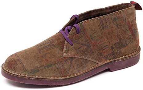 D4384 polacchino uomo brown WALLY WALKER scarpa shoe boot man