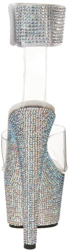 Pleaser Damen Bejeweled-712rs Sandalen Transparent (Transparent)