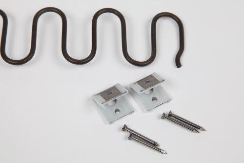 5x Zick Zack Stuhl Federn 58cm + Clips + Nägel Polsterwaren (Zick-zack-federn)