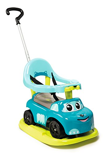 Smoby - 720615 - Porteur Auto Bascule Evolutif 4 en 1 - Klaxon Electrique - Bleu