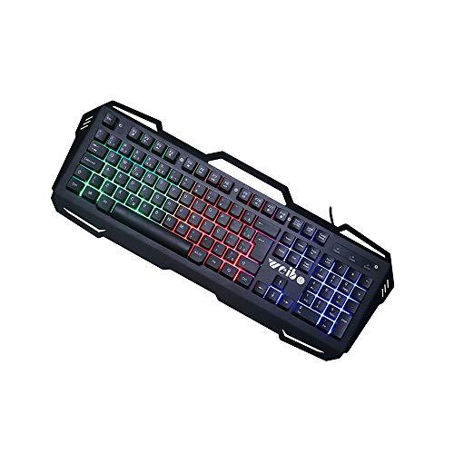 HM2 Mechanische Gaming-Tastatur, ultradünne USB-Tastatur mit Kabel, komfortable Handballenauflage, LED-Hintergrundbeleuchtungstaste, geeignet für PC, Laptop - Kabel Integrierte Tastatur