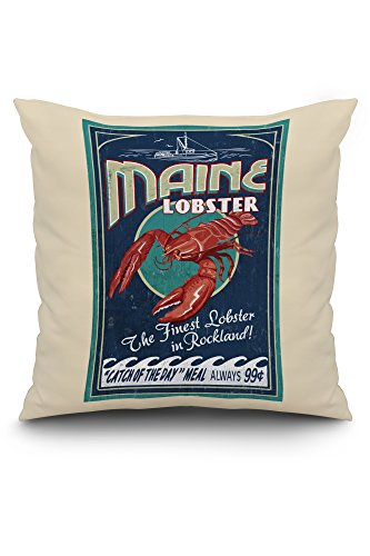 rockland-maine-lobster-vintage-sign-20x20-spun-polyester-pillow-case-white-border