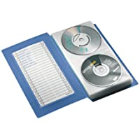 Esselte Leitz 67083 Raccoglitore CD/DVD per 48 CD/DVD in PP, con registro e etichette, 152 x 270 x 43 mm, colore: Blu