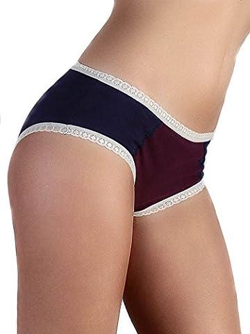 Femme Slips hippsters avec dentelle,, coton bio GOTS, Organic, Panty, pour femme, STRING,,, lingerie Slip, STRINGS, Hipster