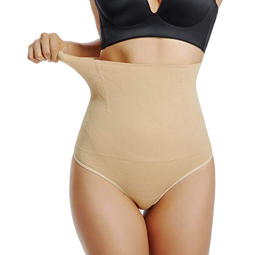 Joyshaper Damen Mieder String Slip Panty Bauch Weg Tanga Thong Dehnbare Shapewear Nahtlose Unterhose Unterwäsche Hohe Taille