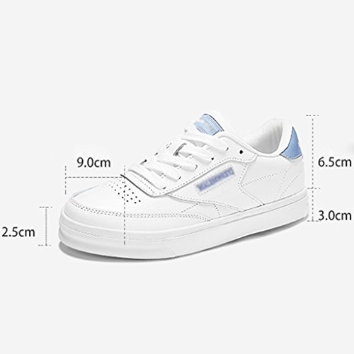 HWF Chaussures femme Printemps Casual Plate Chaussures Étudiant Chaussures Femmes Femme Blanc ( Couleur : Gray red , taille : 36 ) Gray Red