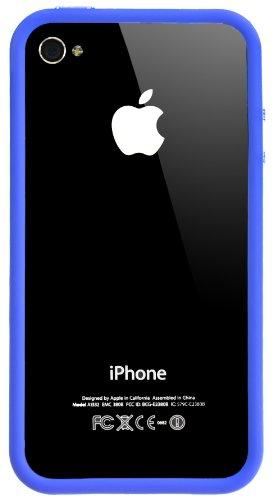 Horny Protectors Bumper con bottoni in metallo per Apple iPhone 4(non 4S) viola trasparente