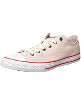 Converse CTAS Ox Barely Rose/Enamel Red/White, Zapatillas Unisex Niños