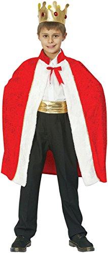 Königsgewand-Kostüm mit Krone für die Altersklasse 6 - 9