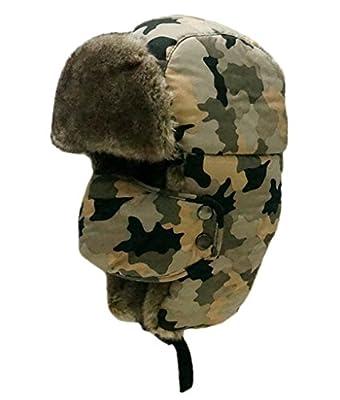DADAB Unisex Trooper Camouflage Hunting Cap Ear Flaps Russian Bomber Ushanka