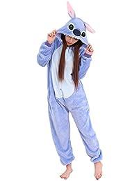 Babyonlinedress Pijama de adulto de una pieza con diseño de anime sudadera de disfraz de cartoon holgado y cómodo con capucha