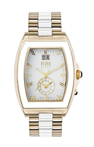 STORM Unisex-Adult Quartz Watch, Analogue Classic Display and Stainless Steel Strap 47031/G/W