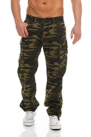 BIG SEVEN - BRIAN - Cargo Hose - Green Camouflage
