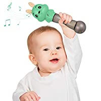 tumama Baby Hand Rattle Toy,Early Education Stick Hand Mucial Rattle,Animal Musical Toys For Baby Kids Children Boy Girl