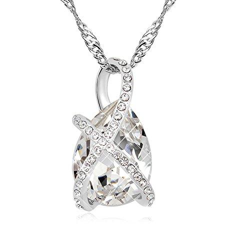 FANSING Schmuck Luxus Österreichischer Kristall Halskette Anhänger für Damen Mädchen (Kostüm Seemann Klassisches)