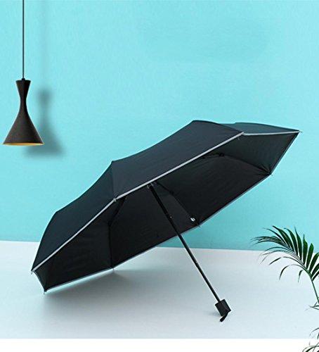 HAOXINQ Parapluie De SéCurité RéFléChissante Hommes D'Affaires Tri-Fold Vinyle Protection UV Umbrella Parapluie En Couleur Double Parapluie De SéCurité