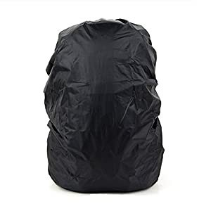 41fKw k7bYL. SS300  - Set of 2 [BLACK] Camping/Hiking Ultrathin Water-proof Backpack Rain Cover,45-55L