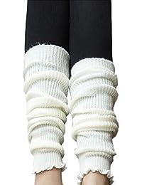 TININNA - Calcetines térmicos de punto para mujer, mezcla de lana cálida para invierno Blanco