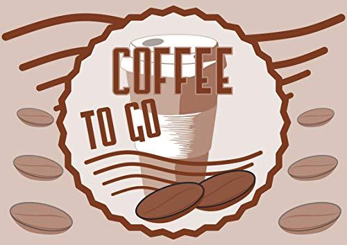 HB-Druck Verkaufsschild Schild Coffee to go A4 Rückseite selbstklebend