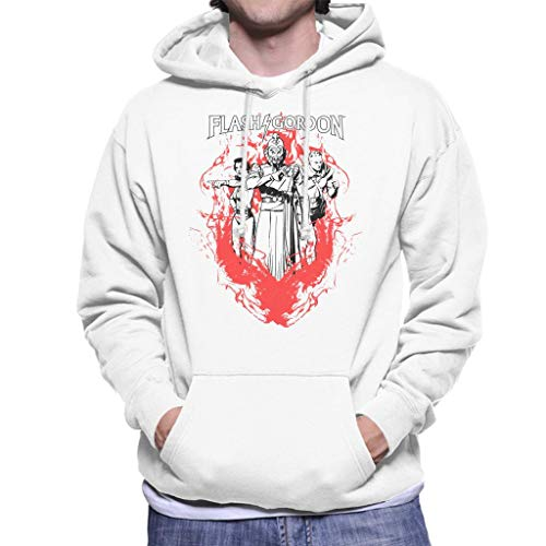 Comics Kingdom Flash Gordon Flame Trio Men's Hooded Sweatshirt -