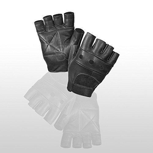 PrimeLeather Echte Weiche Qualitätsleder Handschuhe Ohne Finger Für Gewichtheben Fahrrad Fahren Rollstuhl Fitnessstudio -