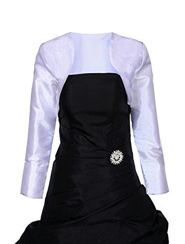 Roblora - boléro gilet pour robe de soirée manche 3/4 -Anna Blanc