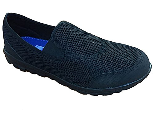 mens-lightweight-slip-on-flexi-comfort-canvas-mesh-pumps-casual-sports-trainers-go-shoes-size-uk-7-1