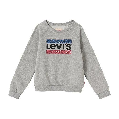 Levi's sweat brush, t-shirt bambina, grigio, 16 anni