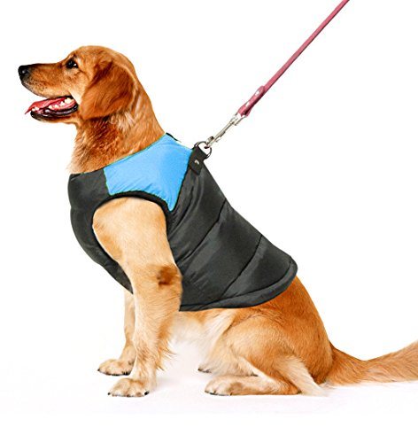 Pet Dog Cold Weather Coat Windproof, PAWZ Road Winter Warm Jacket With D Ring for Harness, Padded Vest Clothes For… 1