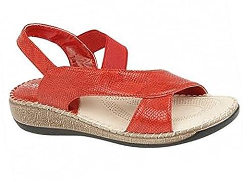 Foster Footwear , Sandales pour femme - - Cuba:Red,