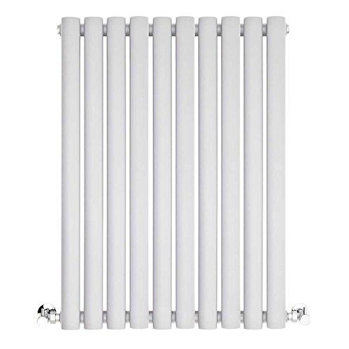 BestBathrooms Design-Heizkörper Horizontal Weiß - 600 x 595 mm - Premium Paneelheizkörper für Zentralheizung - Einlagig - Perfekt für Küche, Bad & Wohnzi mmer -