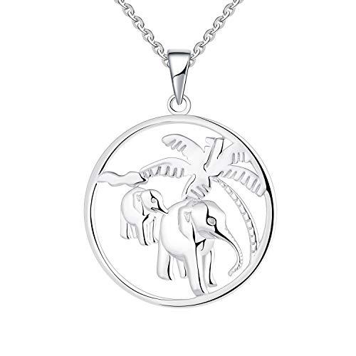 JO WISDOM - Collar de plata de ley 925 con colgante de...