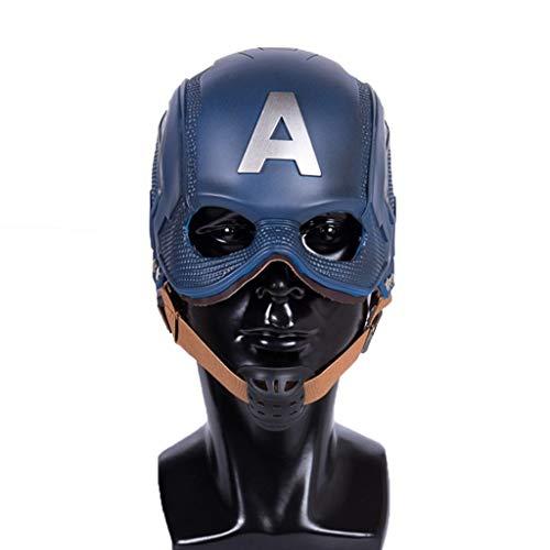 Henxizucun Cosplay Kostüm Helm Half Face Shield Maske Kostüm Replik für Erwachsene Halloween Party Kleidung Zubehör Unisex Erwachsene Horror Dekoration