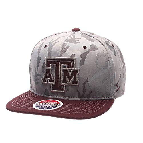 Camoflauge Fall (Zephyr Brigade Snapback Hat, Herren, Brigade, Gray Camo/Team Color, Adjustable Size)