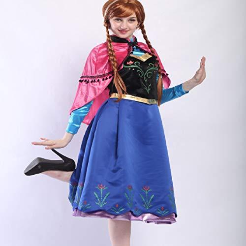 Cosplay Halloween Kostüm Anime Eis Schnee Prinzessin Anna Adult Dress Trailing Romance - Adult Kostüm Eis