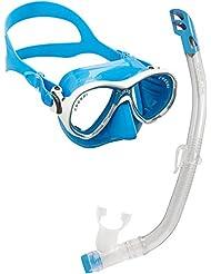 Cressi C/set marea VIP new - Pack de snorkel para niños de 7-13 años, color azul
