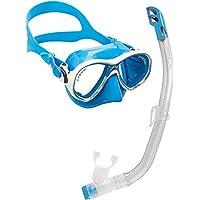 Cressi C/Set Marea VIP New - Pack de Snorkel para Niã±Os de 7-13 Aã±Os, Color Azul