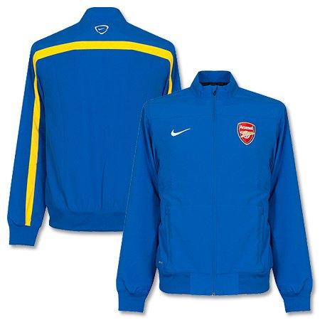 2013-14 Arsenal Nike Woven Sideline Jacket (Blue) (Training Nike Arsenal)