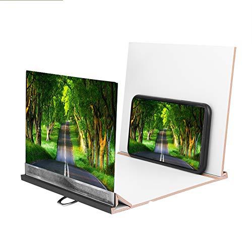 ASHATA Handy-Bildschirmverstärker, Tragbare 8 Zoll Lupe Mobile Phone Screen Projection...