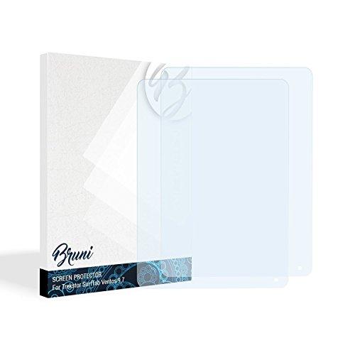 Bruni Schutzfolie kompatibel mit Trekstor SurfTab Ventos 9.7 Folie, glasklare Bildschirmschutzfolie (2X)