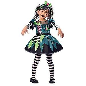 amscan Costume-Age Years-1 Pc Mini disfraz de Miss Frankenstein - Edad 3-4 años - 1 pieza (9903413)
