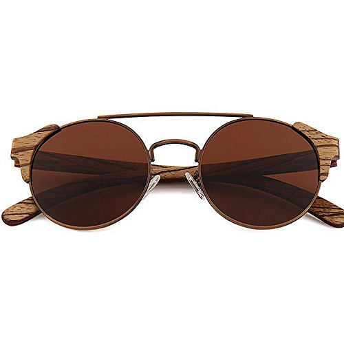 Ppy778 Polarisierte Sonnenbrille Unisex Classic Round Metal Frame Retro Sonnenbrille (Color : Green)