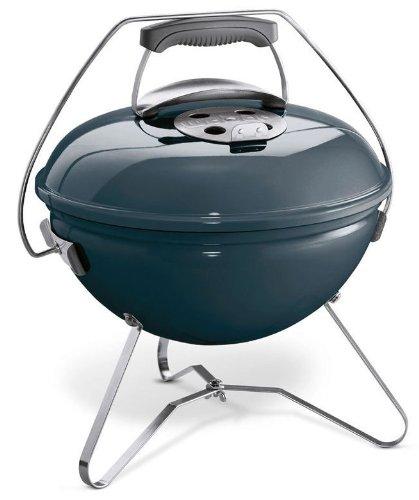 Weber 1126804 Smokey Joe Premium 37cm Slate blau Grill, Aluminium,