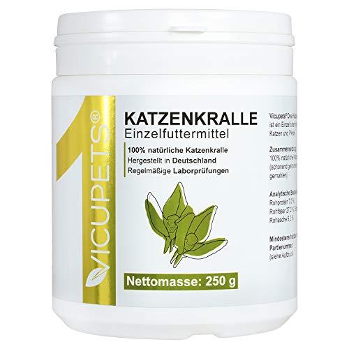 Vicupets® ONE Katzenkralle Pulver für Hunde, Pferde & Katzen I Zur Unterstützung des Immunsystems I 100% Katzenkralle I 250g I Made in Germany -