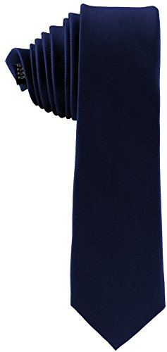 ADAMANT® Seidenkrawatte Dunkelblau 6cm | 100% Reine Seide | Moderne uni Krawatte für Business und Alltag - Dunkel Blau / Navy / Marine