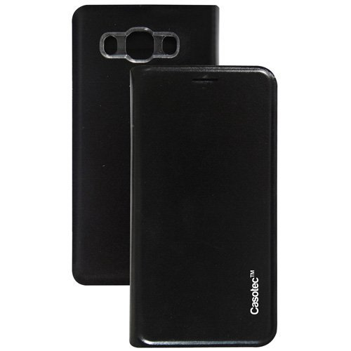 Casotec Premium Flip Case Cover with Invisible Magnet Closure for Samsung Galaxy J5 (2016) - Black  available at amazon for Rs.149