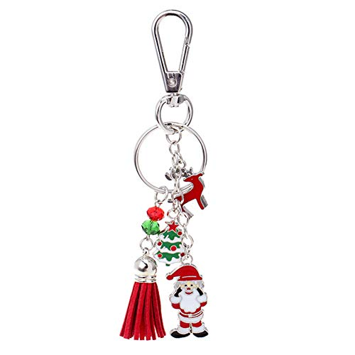 JZTRADING Autoschlüsselbund Schlüsselbund Santa Schlüsselbund Taschen-hängender Schlüsselring Weihnachten Schlüsselbund Multifunktionsschlüsselbund -