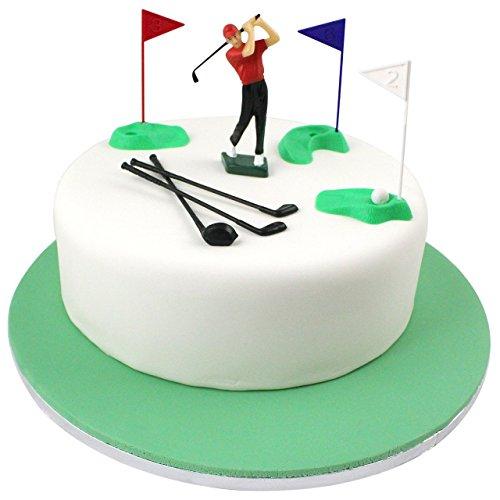 PME Golf Dekorationen/Kunststoff Zahlen, grün/rot/blau/weiß/schwarz, Set 13 (Grüner Tee-möbel)