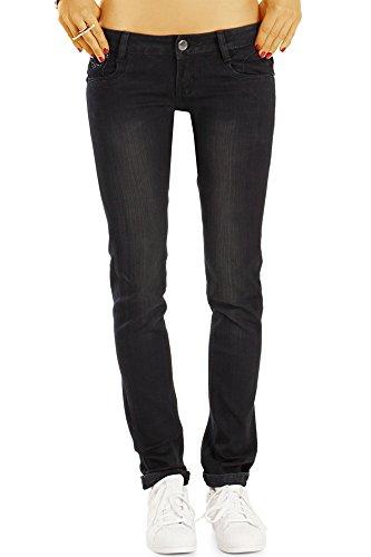 Slim Fit Jeans, Basic Röhrenjeans,Schmale Hüftjeans j41k 27 (Damen Weites Bein Jeans Größe 14)