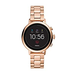 Fossil Damen Digital Smart Watch Armbanduhr mit Edelstahl Armband FTW6018